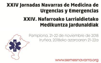 XXIV JORNADAS NAVARRAS DE MEDICINA DE URGENCIAS Y EMERGENCIAS